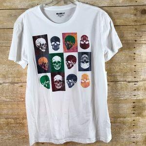 William Rast Skull Out Skull In T-shirt - SZ L NEW